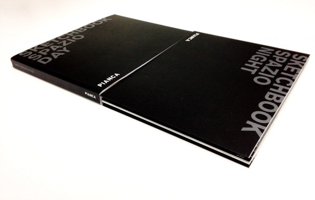 pianca sketchbook spazio day&night cover